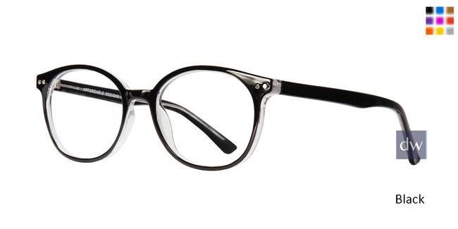 Black Affordable Affordable Designs Dallas Eyeglasses - Teenager.