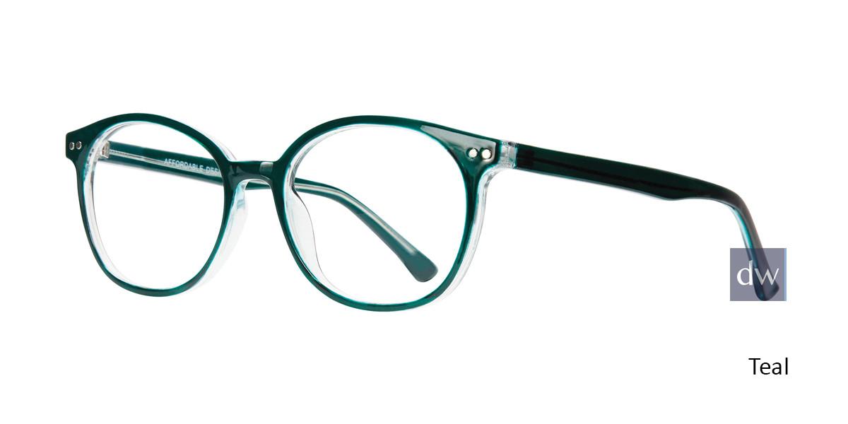 Teal Affordable Affordable Designs Dallas Eyeglasses - Teenager.