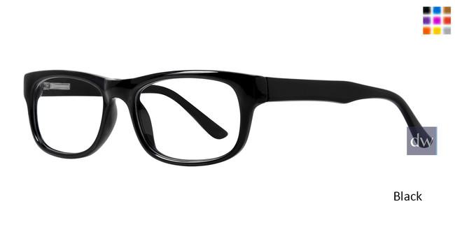 Black Affordable Designs Professor Eyeglasses.