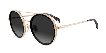 Gold Black Police SPL830 Sunglasses.