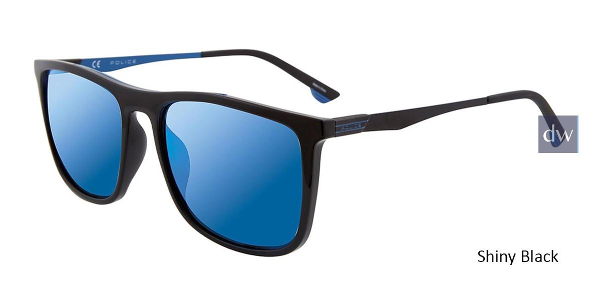 Shiny Black Police SPL770 Sunglasses.