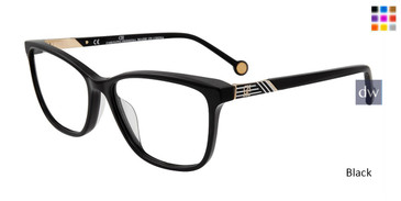 Black Carolina Herrera VHE799K Eyeglasses.