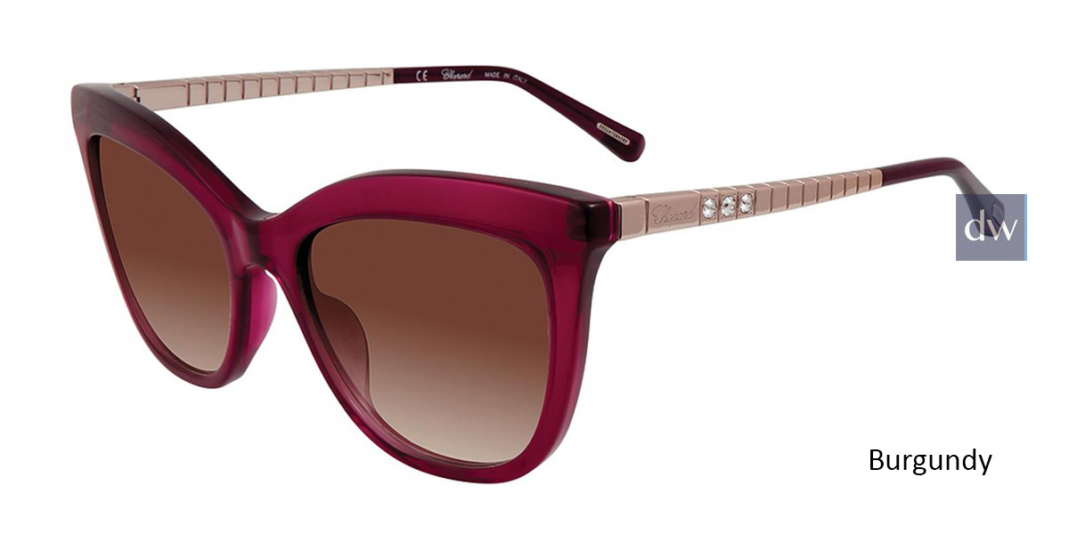 Burgundy Chopard SCH260S Sunglasses.