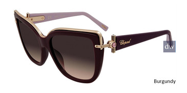 Burgundy Chopard SCHC80S Sunglasses.