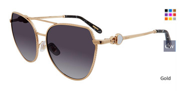 Gold Chopard SCHC87S Sunglasses.