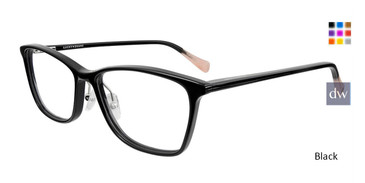 Black Lucky Brand D216 Eyeglasses.