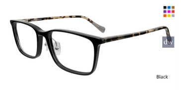 Black Lucky Brand D410 Eyeglasses.