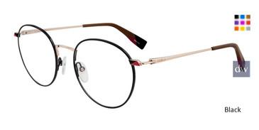 Black Furla VFU252 Eyeglasses.