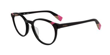 Black Furla VFU251 Eyeglasses Teenager.