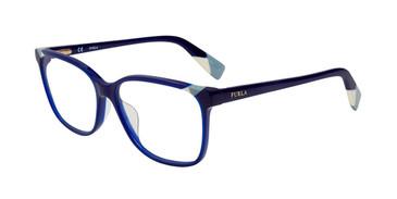 Blue Furla VFU250 Eyeglasses.