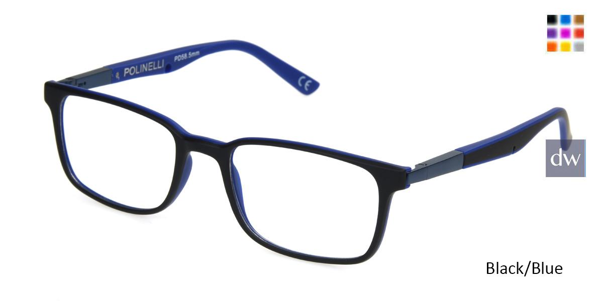 Black/Blue Polinelli P101 Eyeglasses