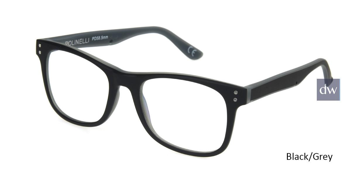 Black/Grey Polinelli P303 Eyeglasses