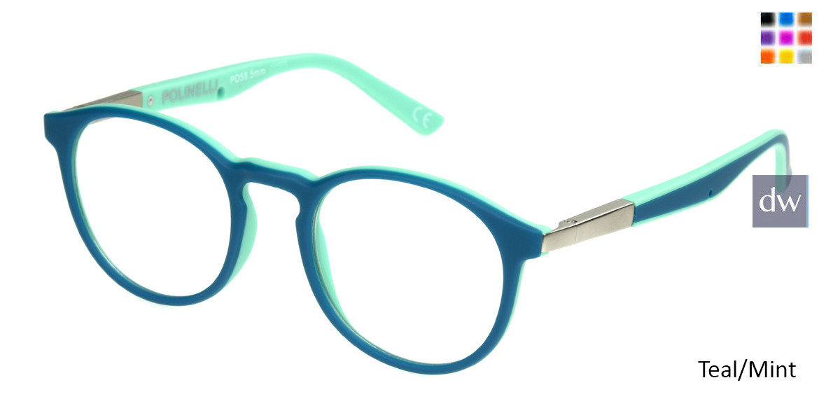 Teal/Mint Polinelli P304 Eyeglasses - Teenager