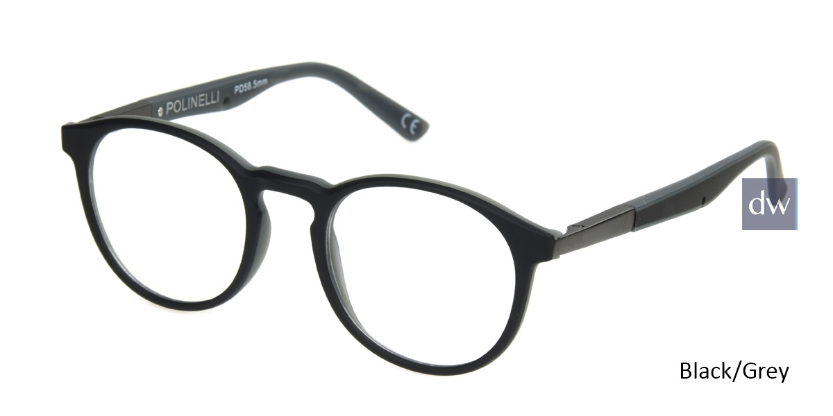 Black/Grey Polinelli P304 Eyeglasses - Teenager