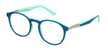 Teal/Mint Polinelli P304 Eyeglasses - Teenager
