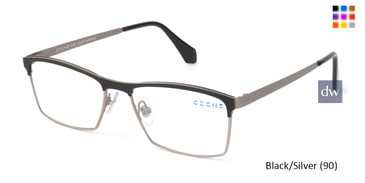Black/Silver (90) C-Zone U1197 Eyeglasses