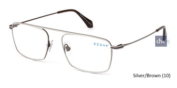 Silver/Brown (10) C-Zone U1201 Eyeglasses