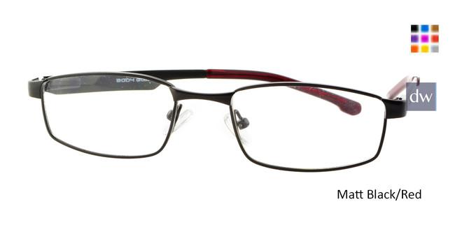 Matte Black/Red Body Glove BB130 Eyeglasses.