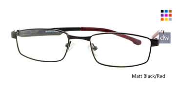 Matte Black/Red Body Glove BB130 Eyeglasses.