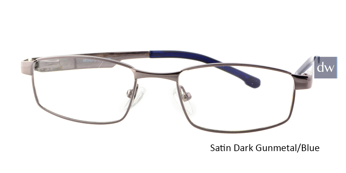 Satin Dark Gunmetal/Blue Body Glove BB130 Eyeglasses.