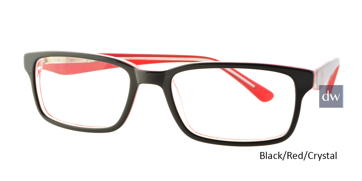 Black/Red/Crystal Body Glove BB131 Eyeglasses.