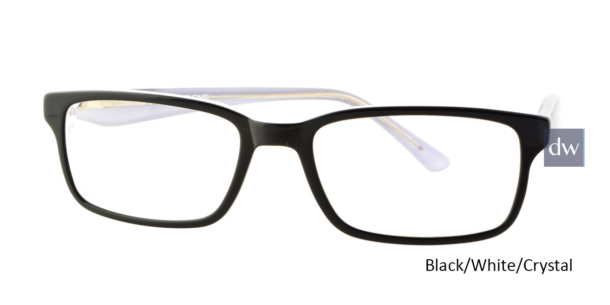 Black/White/Crystal Body Glove BB131 Eyeglasses.