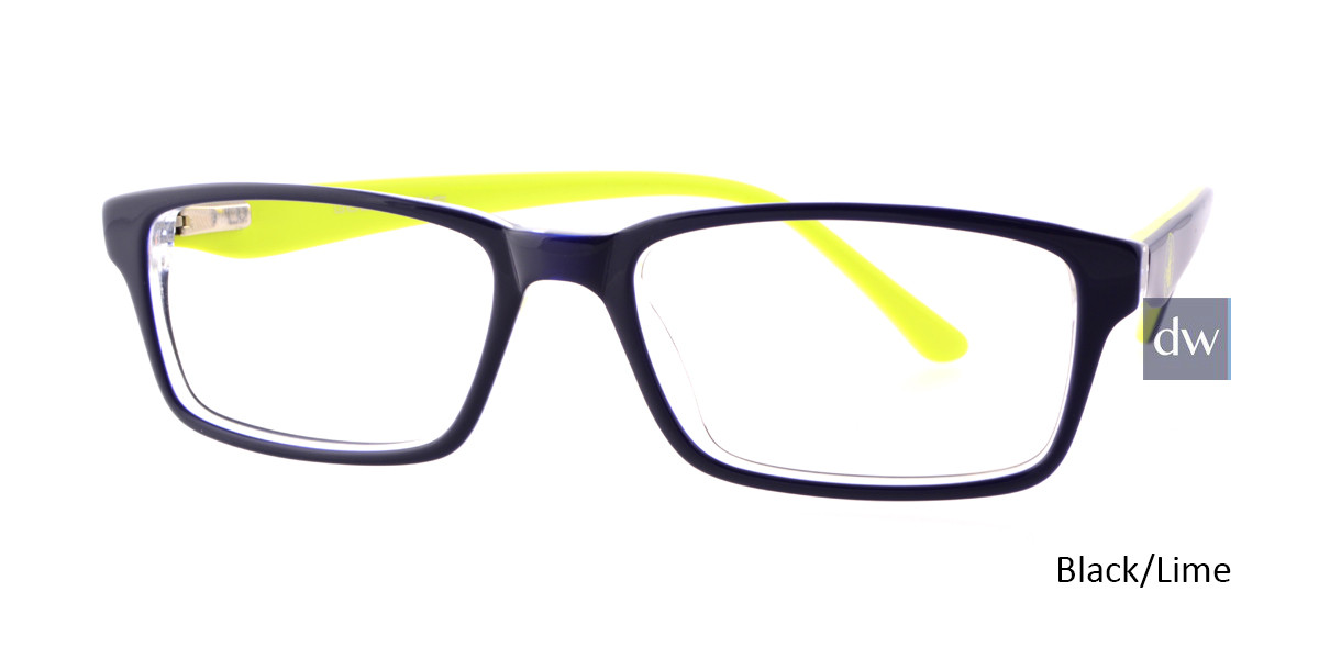 Black/Lime Body Glove BB131 Eyeglasses.