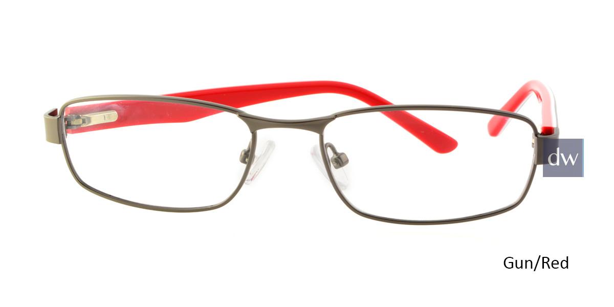 Gun/Red Body Glove BB136 Eyeglasses - Teenager.
