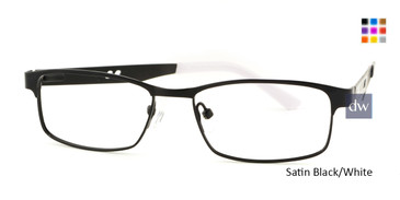 Satin Black/White Body Glove BB142 Eyeglasses