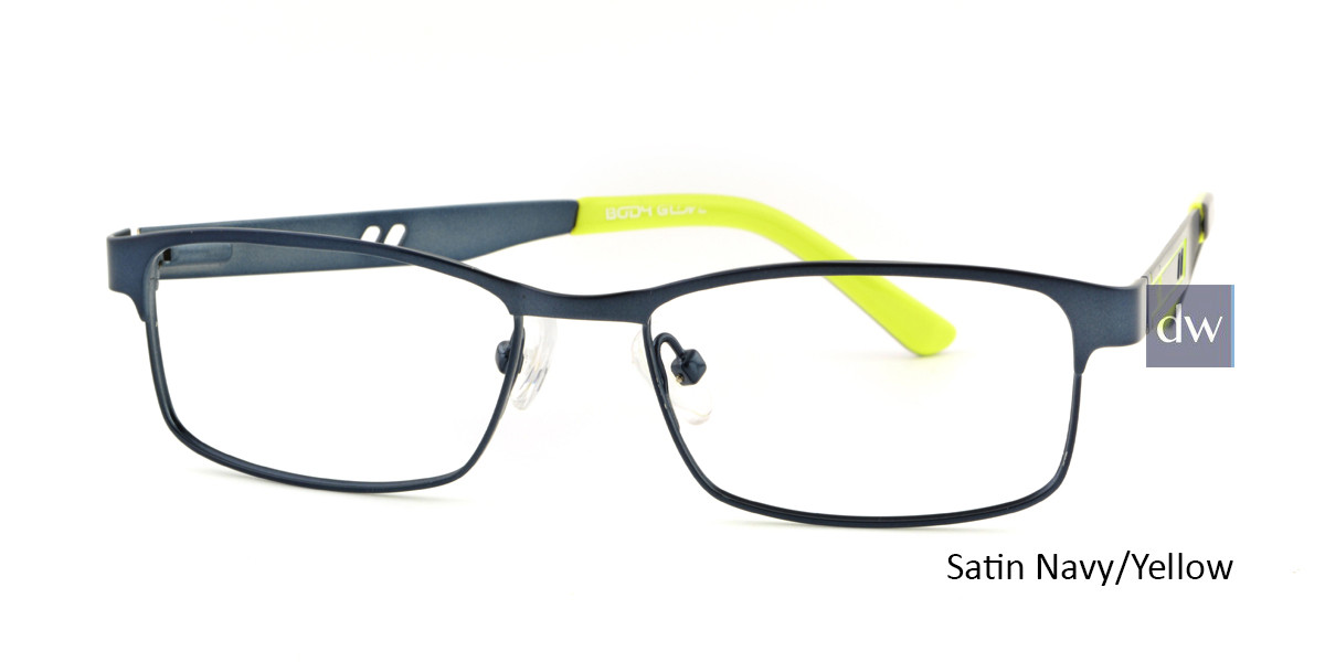 Satin Navy/ Yellow Body Glove BB142 Eyeglasses.