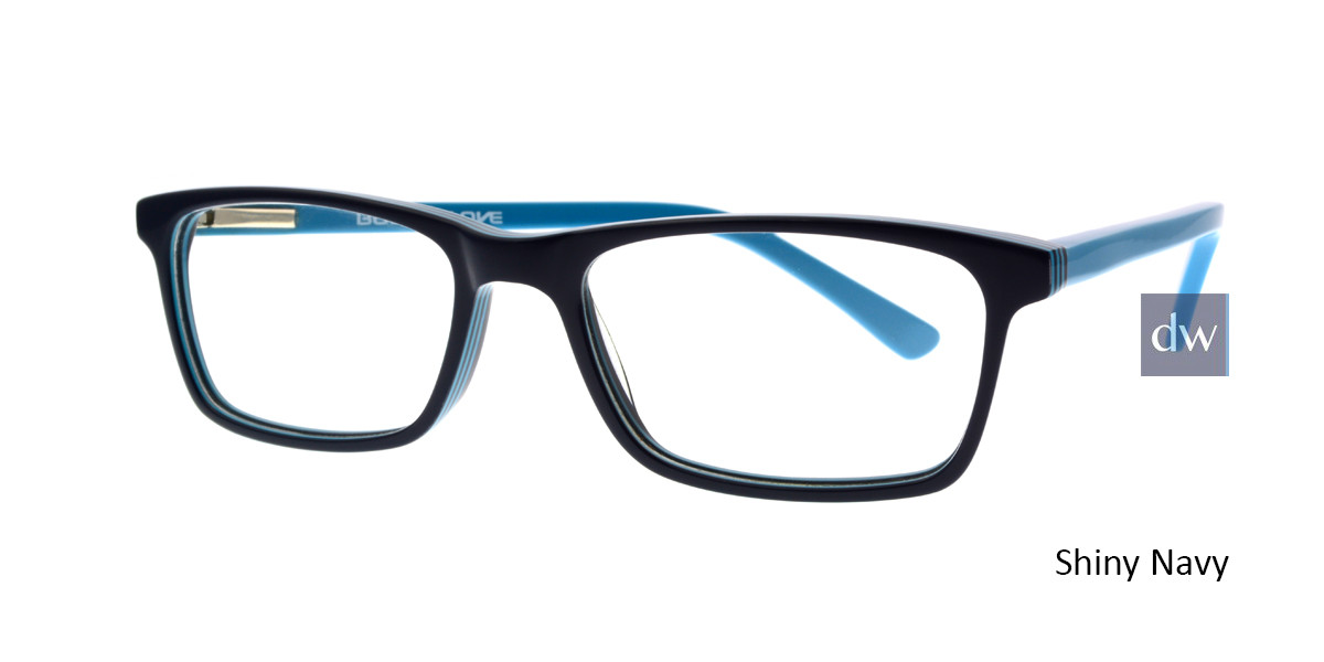 Shiny Navy Body Glove BB148 Eyeglasses.