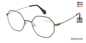 Black/Gold C-Zone U1202 Eyeglasses.