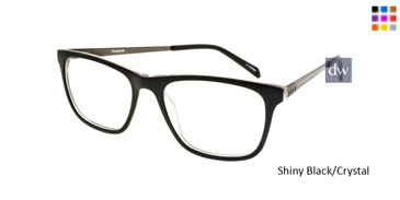 Shiny Black/crystal Reebok R1012 Eyeglasses.
