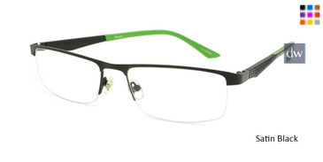 Satin Black Reebok R1013 Eyeglasses