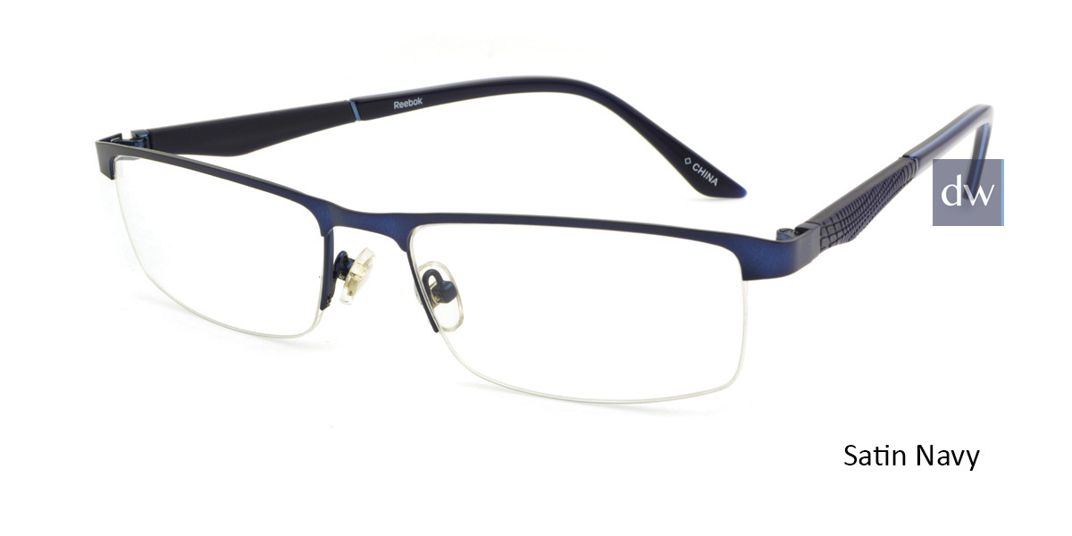 Satin Navy Reebok R1013 Eyeglasses