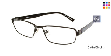 Satin Black Reebok R1015 Eyeglasses.