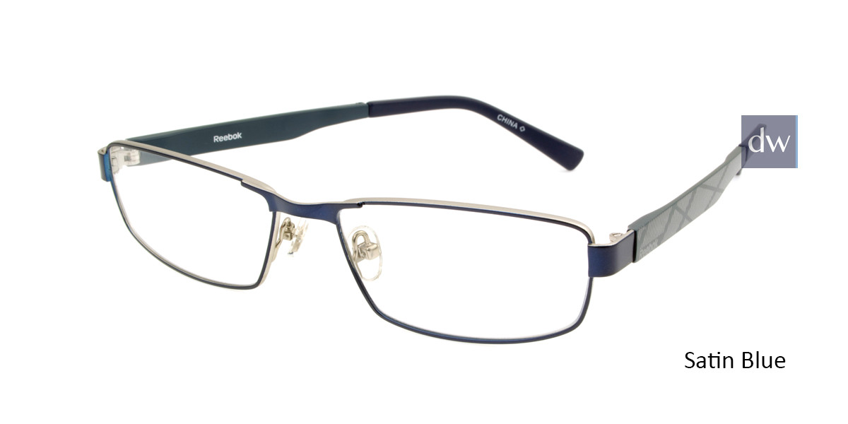 Satin Blue Reebok R1015 Eyeglasses.