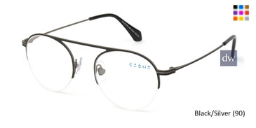 Black/Silver (90) C-Zone U1203 Eyeglasses - Teenager