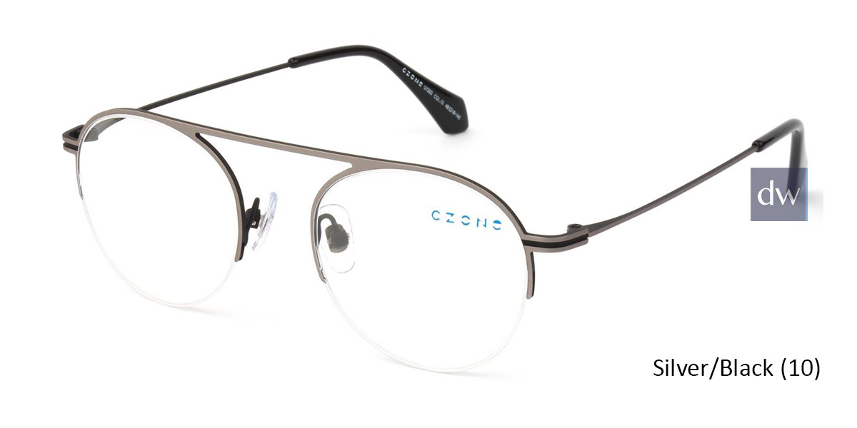 Silver/Black C-Zone U1203 Eyeglasses - Teenager