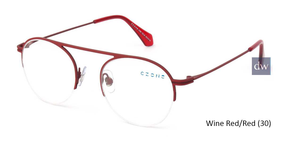 Wine Red/Red C-Zone U1203 Eyeglasses - Teenager