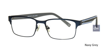 Gun/Red Body Glove BB150 Eyeglasses.