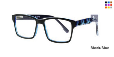 Black/Blue Body Glove BB140 Eyeglasses.