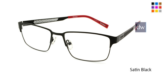 Satin Black Reebok R2031 Eyeglasses