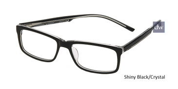 Shiny Black/Crystal Reebok R3003 Eyeglasses.