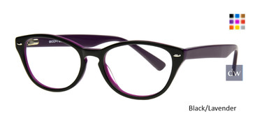 Black/Lavender Body Glove BG802 Eyeglasses - Teenager.