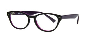 Black/Lavender Body Glove BG802 Eyeglasses - Teenager