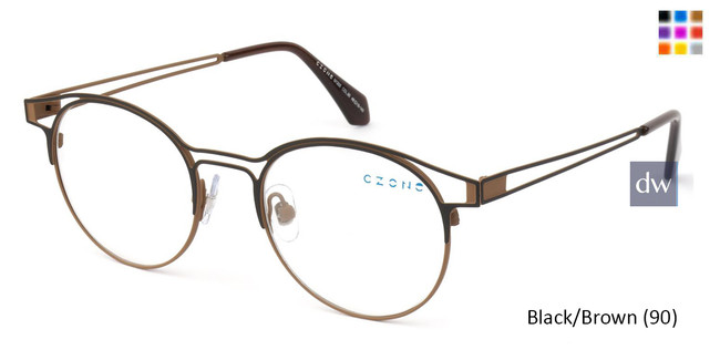 Black/Brown (90) C-Zone U1205 Eyeglasses - Teenager