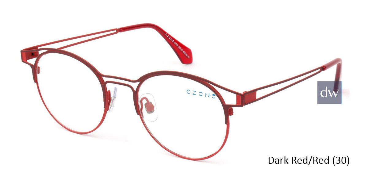 Dark Red/Red (30) C-Zone U1205 Eyeglasses - Teenager
