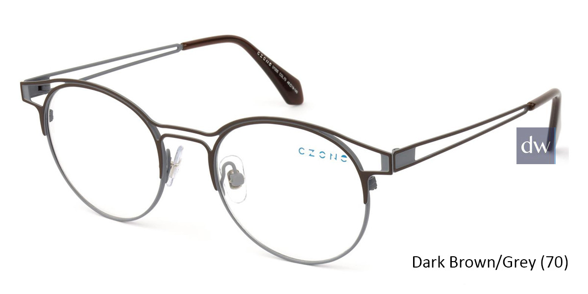 Dark Brown/Grey (70) C-Zone U1205 Eyeglasses - Teenager