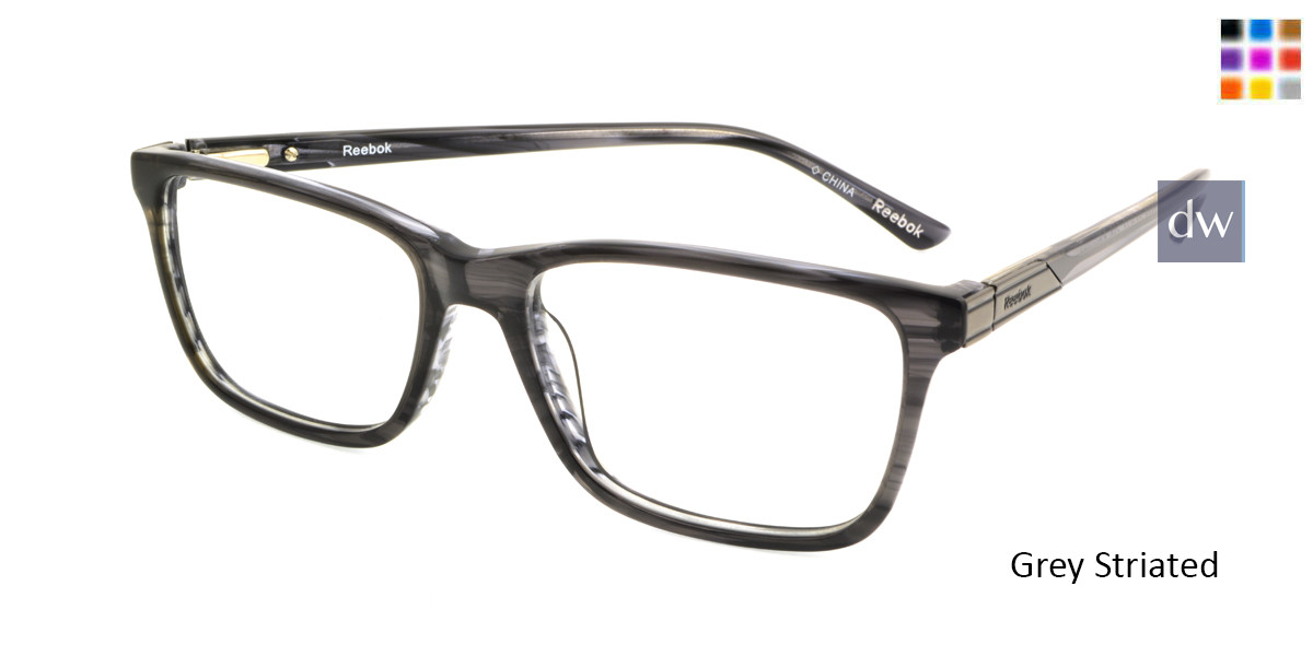 Grey Striated Reebok R3007 Eyeglasses